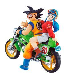 Diorama Son Goku & Chichi 15 cm. Dragon Ball Z. Colección Real McCoy Vol 1. Megahouse Si eres fan de la serie animada de TV Dragon Ball Z estoy seguro de que para tu colección te gustará tener este estupendo diorama con las piezas de la moto y las figuras de Son Goku & Chichi de 15 cm. De la línea Real McCoy Vol 1 son piezas 100% oficiales y licenciadas imprescindibles en cualquier colección de este exitoso manga/anime.