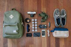 Photographer Will Suiter shows off his day trip essentials. #WellPacked #WellTravelled #HerschelSupply http://www.herschelsupply.com/port-reyes-san-francisco/