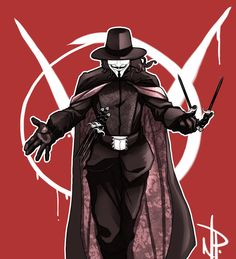 Here's the day 5 sketch for me, thought it would be cool to do a V for Vendetta piece, except with Dre inside of the mask. V for Vendetta Vendetta Wallpaper, V For Vendetta Tattoo, V Pour Vendetta, Batman E Superman, The Fifth Of November, Hacker Wallpaper, Marvel E Dc, Alien Vs Predator, Aliens And Ufos
