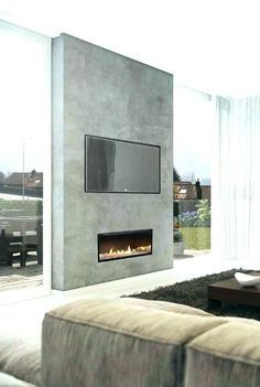 Bedroom : Attractive Cool Fireplace Tv Wall Linear Fireplace Appealing fireplace in bedroom Electric Fireplace' Artificial Fireplace' Ventless Gas Fireplace along with Bedrooms Tv Above Fireplace, Linear Fireplace, Double Sided Fireplace, Concrete Fireplace, Home Fireplace, Living Room With Fireplace, Fireplace Surrounds, Fireplace Design, Living Room Tv