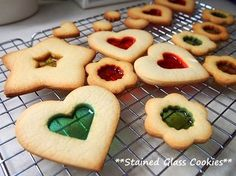 Stained Glass Cookies for Christmas Tree Ornaments