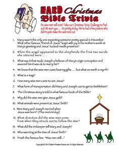 Printable Christmas Trivia Questions | Easy Christmas Trivia For ...