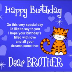 birthday message for brother