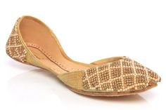 Unze Women Diamante Detailed Handmade Leather Flat Indian Khussa Evening, Party Pump - L17335-Gold-4.0 Unze, http://www.amazon.co.uk/dp/B004XONI7G/ref=cm_sw_r_pi_dp_eEF1qb0QDY7MP/278-2689039-0984462