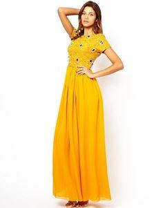 Virgos Lounge Selene Maxi Dress with Embellished Top