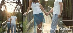 Robin Dini Photography, Engagement Session, Photojournalism, bridge, afternoon light, summer, holding hands, couple, summer engagement session, beach engagement session
