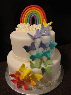 Rainbow+Butterfly Cake