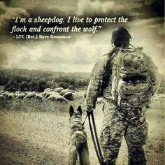 sheep or sheepdog or wolf - Bing Afbeeldingen Military Quotes, Military Humor, Military Dogs, Army Life, Military Life, Military Service, My Champion, Support Our Troops, Real Hero