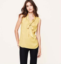 Bow Neck Shell | Loft