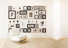 With Picture-wall The Possibilities are Endless™ to create collage wall photo-wall frames and template for hanging frames on staircase gallery wall Frames On Wall, Wall Collage, White Frames, Wood Frames, Wall Art, Wall Decal, Framed Wall, Silver Frames, Frame Collages