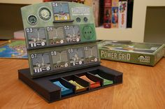 Power Grid auction board! So cool!