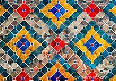 Colorful Thai style ceramic decoration at Wat Phra Kaew, Bangkok, Thailand