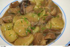 No Salt Recipes, Vegan Recipes, Cooking Recipes, Czech Recipes, Ethnic Recipes, Gnocchi, Stuffed Mushrooms, Good Food, Food And Drink