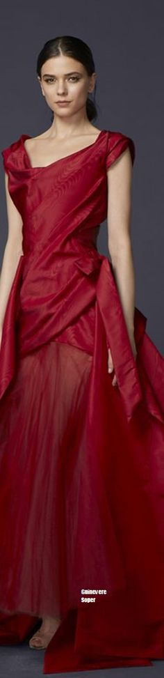 949852c7f72 Vivienne Westwood Couture 2016 women fashion outfit clothing style apparel   roressclothes closet ideas Red Fashion