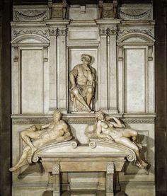 Michelangelo - Tomb of Lorenzo de' Medici New Sacristy, 1531 at San Lorenzo Florence Italy | da mbell1975