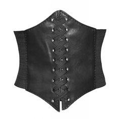 Alivila.Y Fashion Faux Leather Underbust Waist Belt Corset A13-Black... ($7.99) ❤ liked on Polyvore featuring waist belt