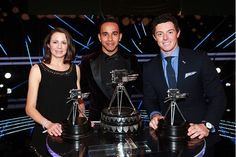 Lewis Hamilton is the BBC Sports Personality of the Year with golfer Rory McIlroy second and athlete Jo Pavey third. Jo Pavey, Lewis Hamilton Wins, Rory Mcilroy, Sports Personality, Mclaren F1, F1 Drivers, Isle Of Man, Man United, Formula One