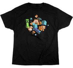 ae518c57 Minecraft - Creeper Anatomy Youth T-Shirt, Large Minecraft https://www