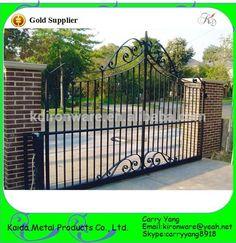 Jardín y Casa de Puertas de Diseño de La Parrilla de Acero de Bajo Carbono, Puertas De Hierro forjado Parrilla de Diseño