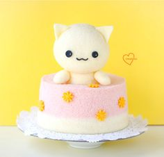 Loving Creations for You: Cute Neko (Cat) Chiffon Cake