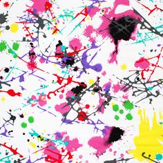 Yes Please! I need yards and yards!!! Paint Splatter on White Cotton Jersey Knit Fabric