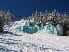Happy St. Patrick's Day! Every year leprechaun's turn the waterfall under the Gondola at Stowe Mountain Resort Green!