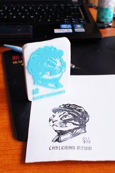 Rubber Stamp Chairman Meow 8cmX6cm