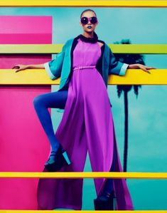 As we start to anticipated Spring this vibrant editorial inspires a positively colorful palette. Charlotte Carey photographed by Andrew Yee
