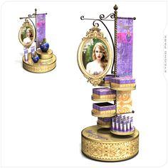 """DEPARTAMENTALES. Colocar en Pasillo Display de Barbie Reinos Mágicos con un Espejo tipo """"Blanca Nieves"""" que las niñas se puedan pintar"""