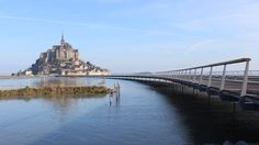 """When you're on the bridge of Mont-Saint-Michel, it works almost on the water"""