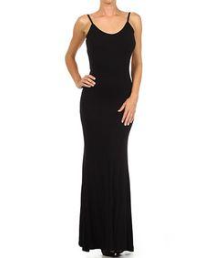 Loving this Black Deep-Back Maxi Dress on #zulily! #zulilyfinds