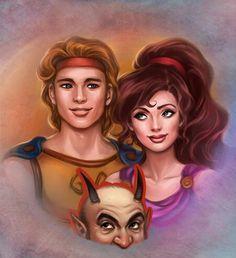 Hercules and Megara Disney Pixar, Disney Fan Art, Disney Movies, Disney Characters, Disney Stuff, Animation Film, Disney Animation, Megara Hercules, Disney Renaissance