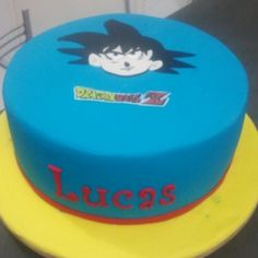 Cake Goku Dragon Ball Z #festademenino #bologoku #bolodragonballz #aniversario
