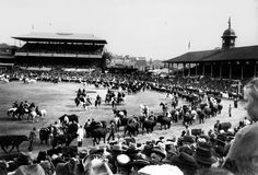Grand Parade in the main arena of the Exhibition Ground, Brisbane, 1948 by State Library of Queensland, Australia, via Flickr