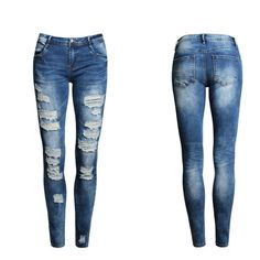 Jeans Woman 2018 New Sexy Denim Pants Skinny Pencil Pants Stretch Fitness Trousers Leggins Jeans Ripped Denim, Distressed Denim, Denim Pants, Skinny Jeans, Trousers, Plus Size Jeans, Womens Ripped Jeans, Jeans Price, Denim Jeans