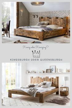 Bed Frame Design, Bedroom Bed Design, Modern Bedroom, Bedroom Furniture, Home Furniture, Furniture Design, Bedroom Decor, Rustic Log Furniture, Wooden Sofa Set