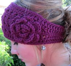 Crochet earwarmers. Pattern: http://www.craftsy.com/pattern/crocheting/Accessory/Crochet-Winter-Headband/122