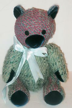 Handwoven jointed teddy bear by Monaghan/O'Toole