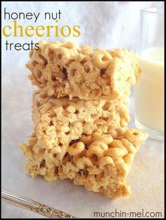 Honey Nut Cheerios Treats, making today