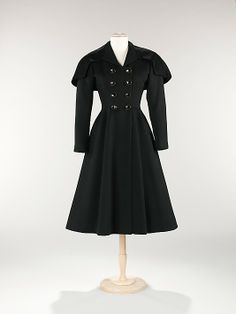 Coat, Evening  House of Balenciaga  (French, founded 1937)  Designer: Cristobal Balenciaga (Spanish, 1895–1972) Date: spring/summer 1950 Culture: French Medium: wool