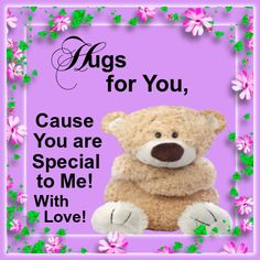 And you are special to me with Live, Daizo💗👰👫 Hugs And Kisses Quotes, Hug Quotes, Hugs And Cuddles, Kissing Quotes, Bear Hugs, Good Night Kiss Couple, Good Night Hug, Good Night Quotes, Morning Quotes