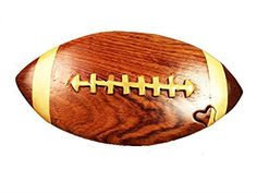 Handmade Art Intarsia Wooden Puzzle Box  Football246 -- This is an Amazon Affiliate link. Click image for more details.