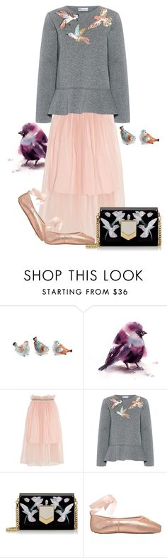 """""""Birdie"""" by burlsgurl ❤ liked on Polyvore featuring Fitz & Floyd, Mother of Pearl, RED Valentino and Jimmy Choo"""