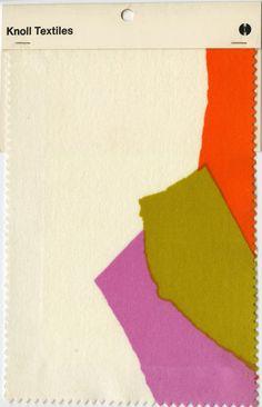 Knoll printed velvet samples. Mid 20th century.