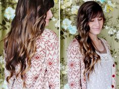Flat Iron Curls | 28 DIY Hairstyles