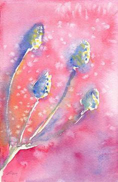 Original Botanical Watercolor Painting   Lydia Makepeace