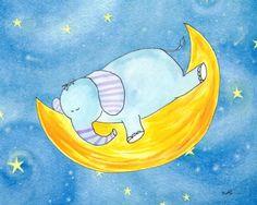 Laila's Sweet Dreams Elephant by Serena Bowman 12 by 16, 2-Inch Gallery Wrap by Laila's, http://www.amazon.com/dp/B0081N9SH4/ref=cm_sw_r_pi_dp_hdBvsb1G8WXC0