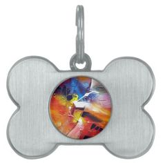 Abstract Expressionism Painting Pet Tag