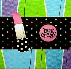 Catch up with your girlfriend by writing inside this handmade, whimsical, girly-girl note card. This card is perfect for any occasion..  #teens #girls #lipstick #notecard #handmade
