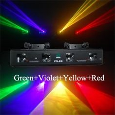 205.00$  Buy now - http://ali0n2.worldwells.pw/go.php?t=565014223 - 4 lens 4 color RGVY laser light DJ disco stage lighting show 205.00$